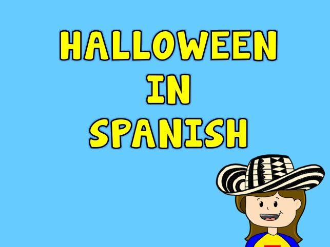 30 best Halloween in Spanish images on Pinterest   Spanish class ...