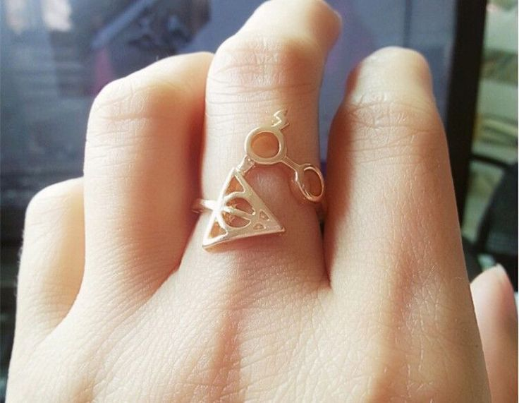 Harry Potter Deathly Hallows & Glasses Ring