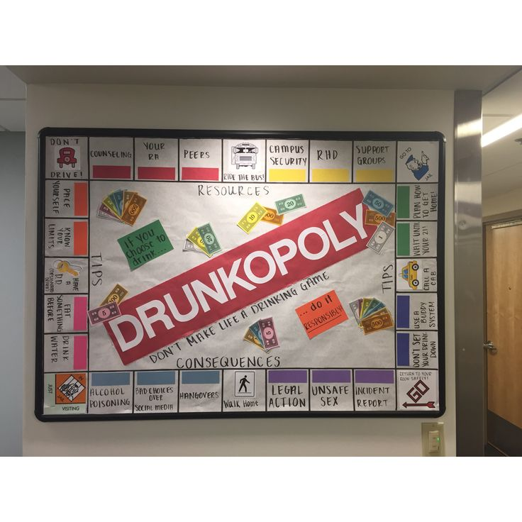 Drunkopoly #RA Alcohol Awareness #ResidentAssitant