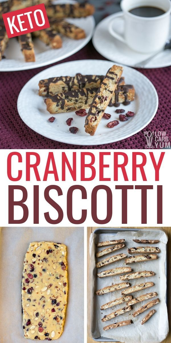 A Low Carb Biscotti Recipe Made With Almond Flour And Coconut