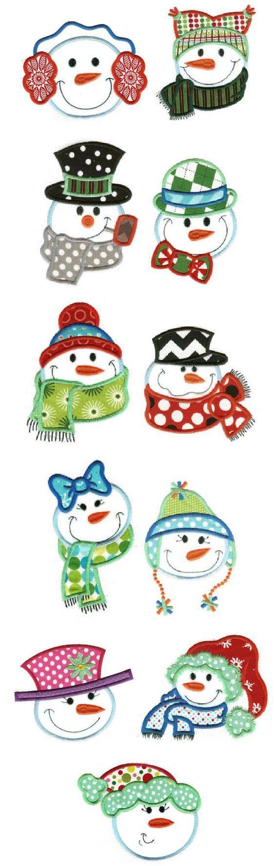Snowman face ornament - 20 Idee Per Realizzare Dei Fantastici Decori Pupazzi Di Neve Snowman Facessnowmenapplique