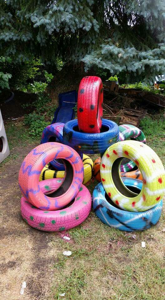 how to make a tire playground