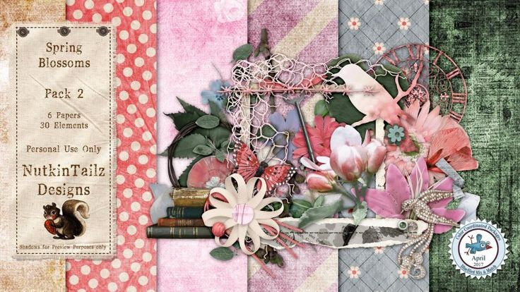 Spring Blossoms Pack 2 by Nutkin Tailz Designs.