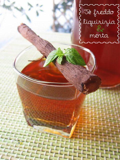 Licorice and mint homemade iced tea - Tè freddo liquirizia e menta fatto in casa