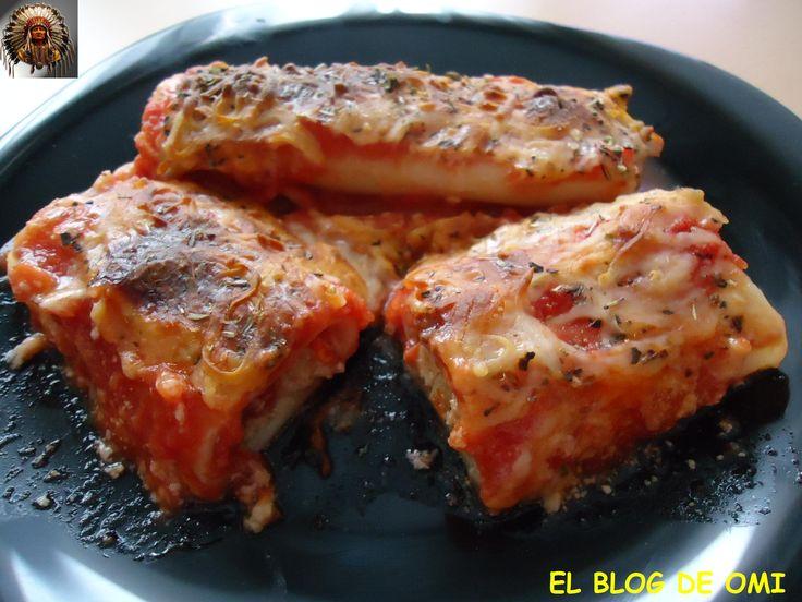 Canelones De Carne y Verduras Sin Bechamel