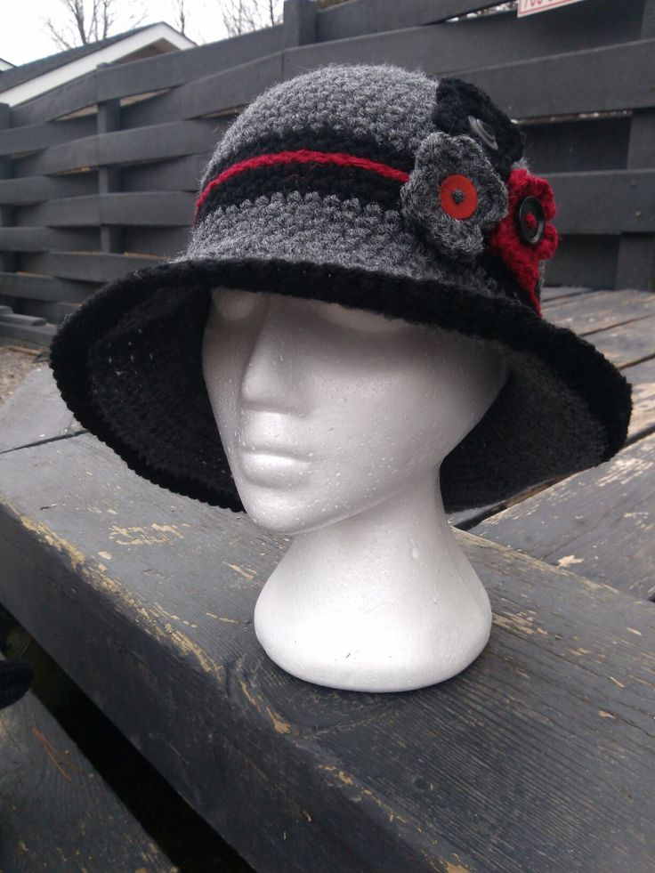 "crochet hat with 1930""s inspiration."