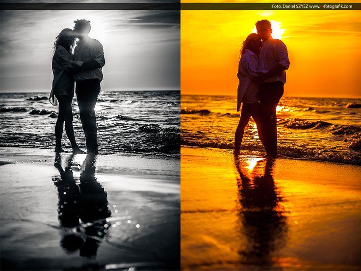 magiczne zdjęcia - sesja ślubna - zachód słońca