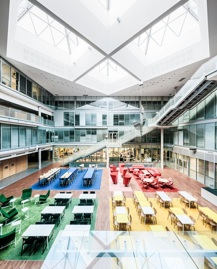 View from above of the art and design department at University of