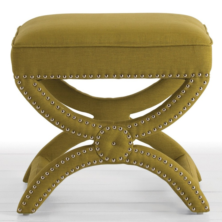 sophisticated x bench with nailhead detail. arteriors ...
