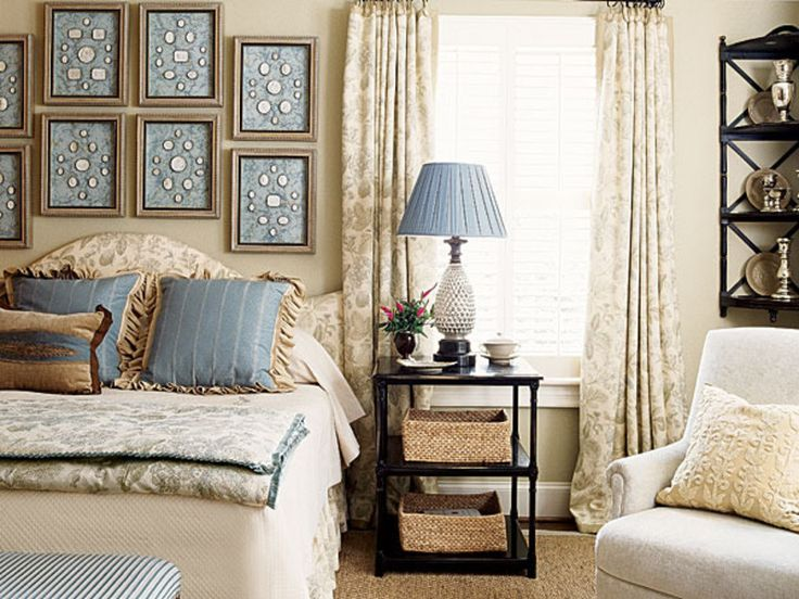 Blue Bedroom Color Schemes, Decorating A Bedroom With Blue And White