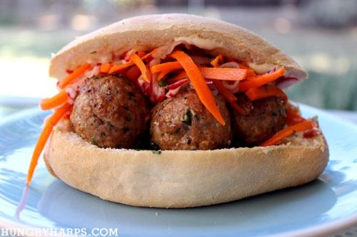 Pork Meatball Banh Mi Sandwich | Sandwiches | Pinterest