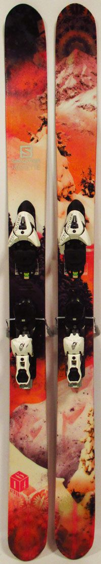 Topsheets of 2014 Salomon Rockette Skis For Sale