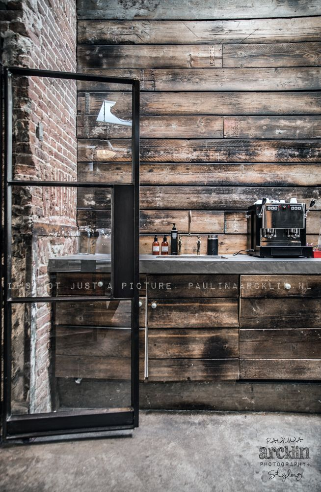 © Paulina Arcklin | GOOD GENES store in Amsterdam stained wood wall