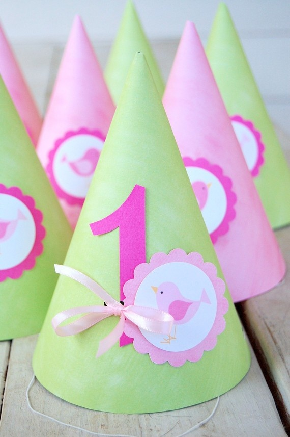 Party hats for  1st Birthday