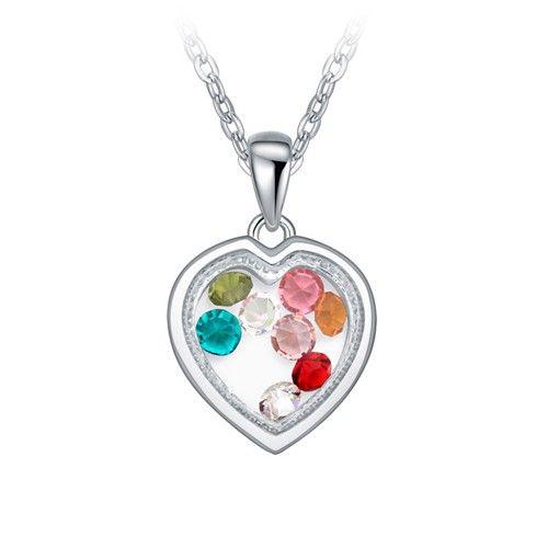 A szív ajándéka színes kristály nyaklánc I FeminaShop.hu