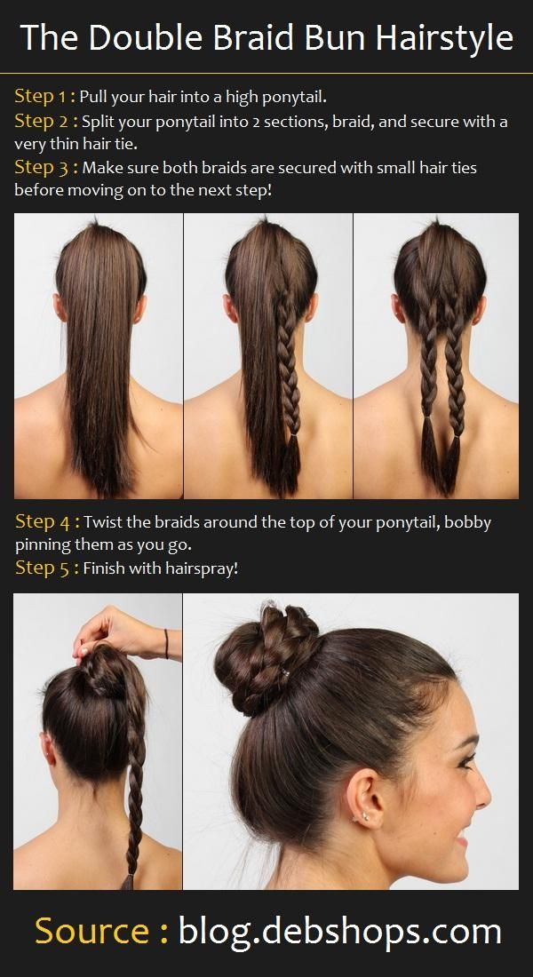 Double Braid Bun Hair Tutorial #braids #tutorial #hair #beauty