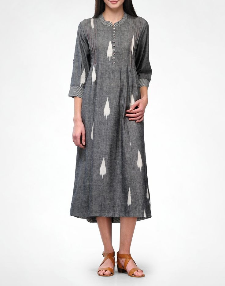 Leaf Ikat Tunic - Kurtas - Clothing