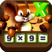 In this app, students select two digits to multiply and select the answer. Conceptual understanding of multiplication is supported by the pictorial representation of the problem with acorns. Covers facts from 1x1 to 9x9.