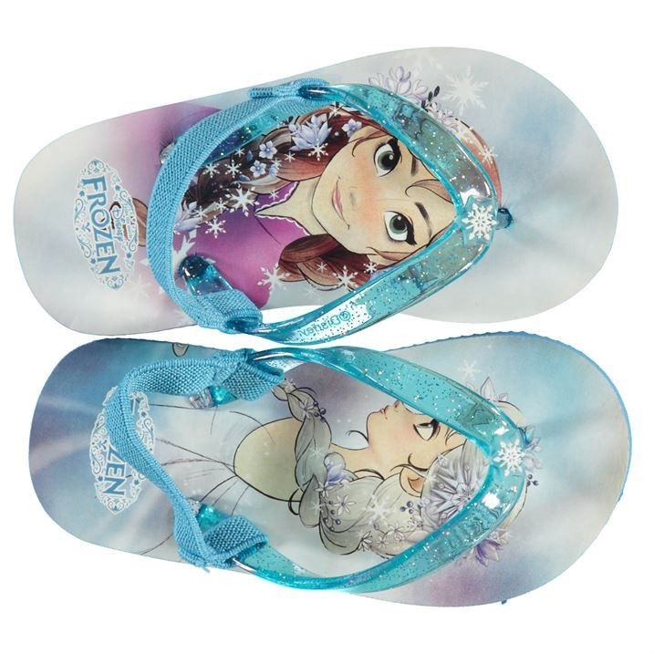 Girls Disney Frozen Flip Flops