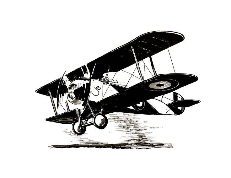 Sopwith Camel by Jon Skraentskov Ink on paper 2017 #ww1 #sopwithcamel #plane #fighterplane