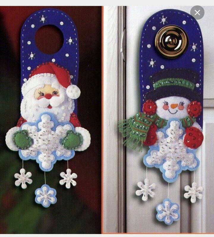 Cuelga puertas navidad