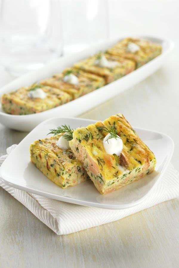 Smoked Trout Frittata Squares   #EggsEasyAs  #recipe