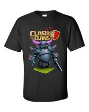 New Printed Design Clash of Clans PEKKA Games Online Mens T Shirt Size S M L XL