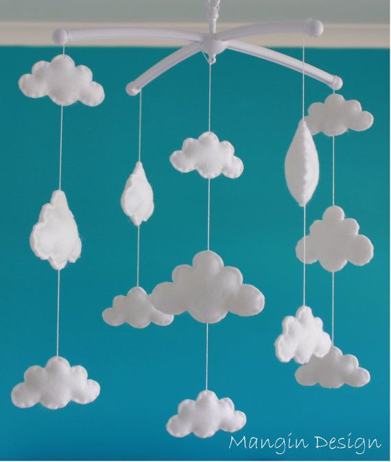 Sale Gorgeous cloud mobile musical cot mobile by ManginDesign