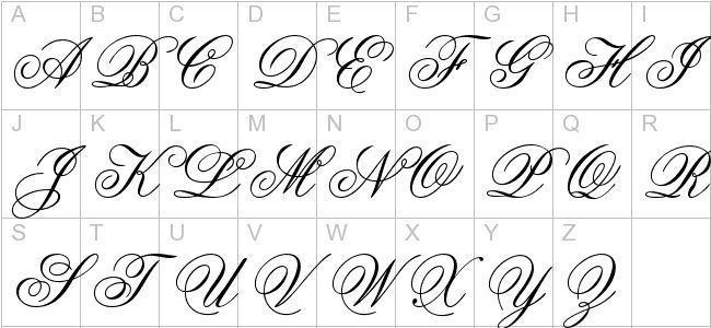Cursive capital letters. More or less a lost art of the