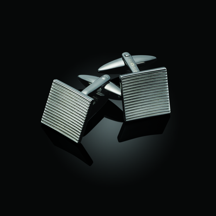 Gunmetal Square Cufflinks