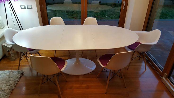 Tavolo allungabile - Tavolo da pranzo ovale o rotondo con piano allungabile in LaminatoTavolo allungabile - E. Saarinen Mobili di design | BAUHAUS RE EDITION