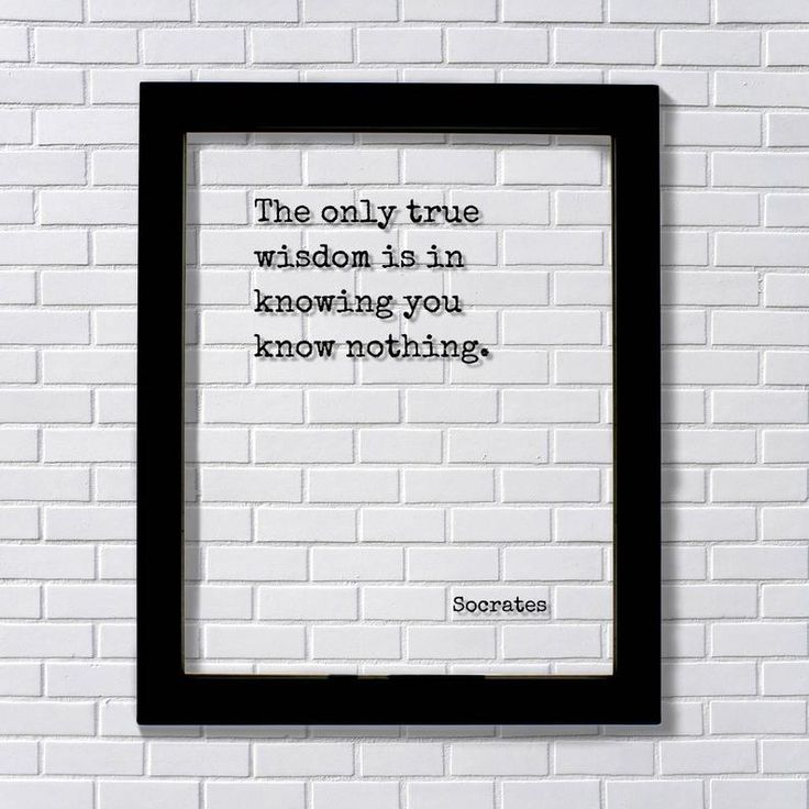 Socrates - Floating Quote - The only true wisdom is in ...