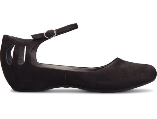 Sinuosa comes as a black sandal with a heel of 3.6 cm and is made of nubuck leather.
