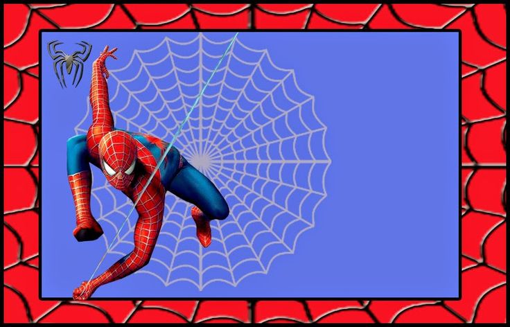 Spiderman: Free Printable Invitations, Labels or Cards.