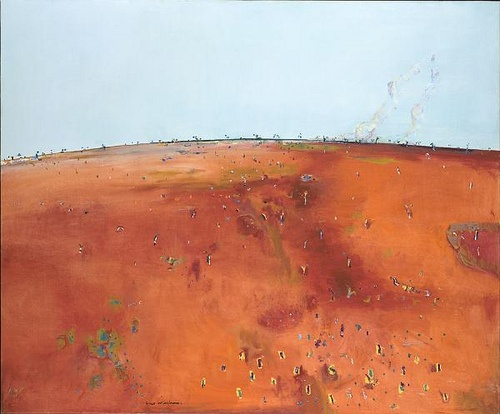 Fred Williams - Drifting Smoke - 1981. An other great australian artist. He evokes so well our outback.