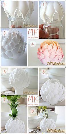 Стильная ваза из одноразовых ложек своими руками + Фото » Дизайн & Декор своими руками