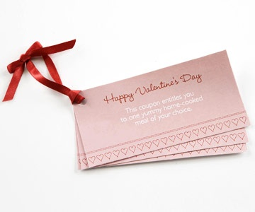 Use a template to create coupons for a special gift.