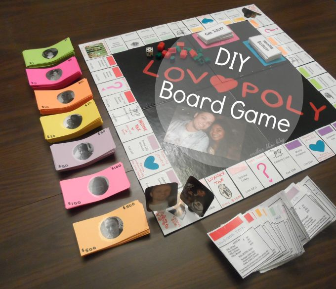 DIY Lovopoly Board Game... I love making things.. def doing this to play on our anniversary night!!!