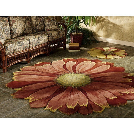Vibrant And Colorful Rugs Are Shaped Like Flower Blooms. Floral Shaped Rugs  Range From Scatter