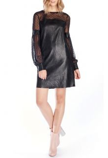 Obrázek Fornarina černé koženkové šaty Vivian - L
