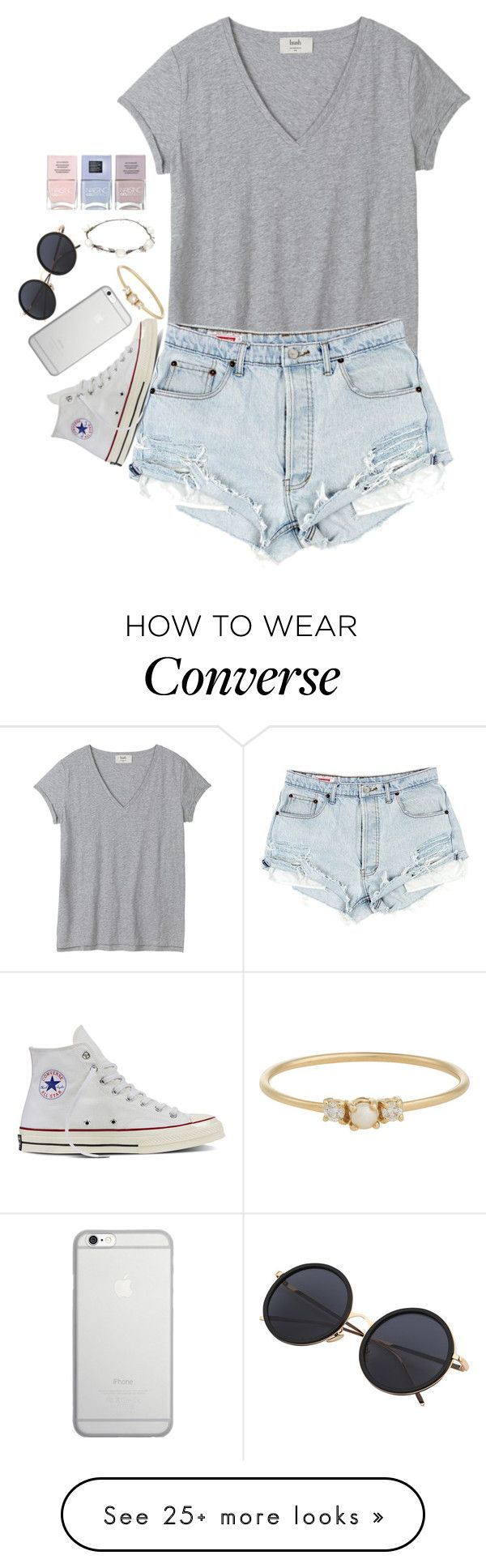 """""""Summer nights"""" by josie-posie on Polyvore featuring Converse, Native Union, Jennie Kwon, Lipsy and Nails Inc."""