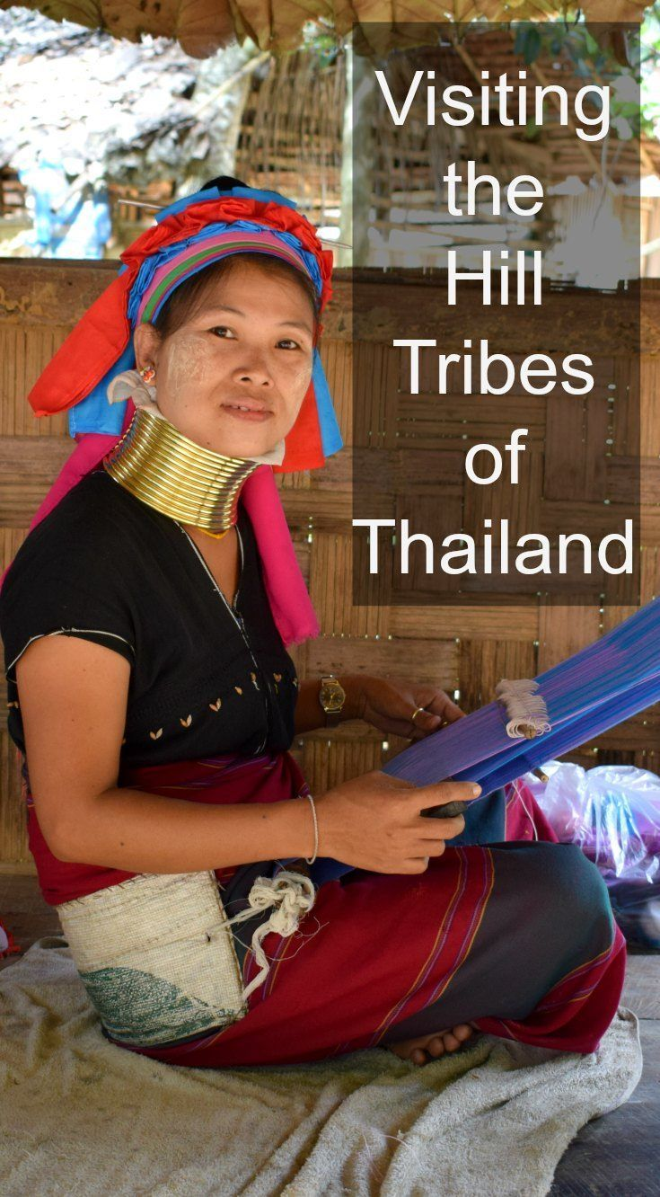 Visiting the hill tribes of Thailand, including the Long Kneck Karen. Travel and family travel in Thailand via /worldtravelfam//