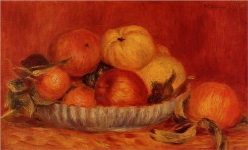 Still Life with Apples and Oranges - Pierre-Auguste Renoir