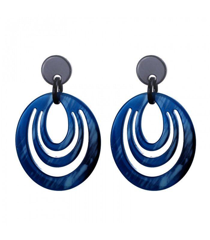 Mooie blauwe oorbellen|Mooie oorbellen koop je online | Yehwang fashion en sieraden