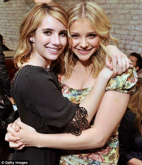 Chloe Moretz and Emma Roberts