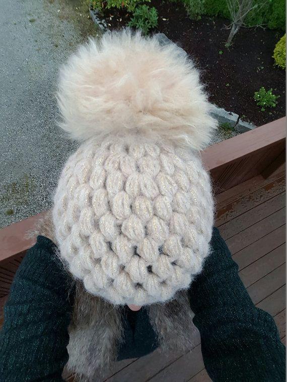 Puffy alpaca beanie by Ohmightyalpaca on Etsy