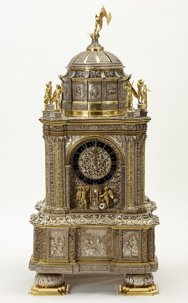 Clock, case by Hans Breghtel, movement by Adriaen van den Bergh, 1665-70, Dutch Republic (now the Netherlands) l Victoria and Albert Museum