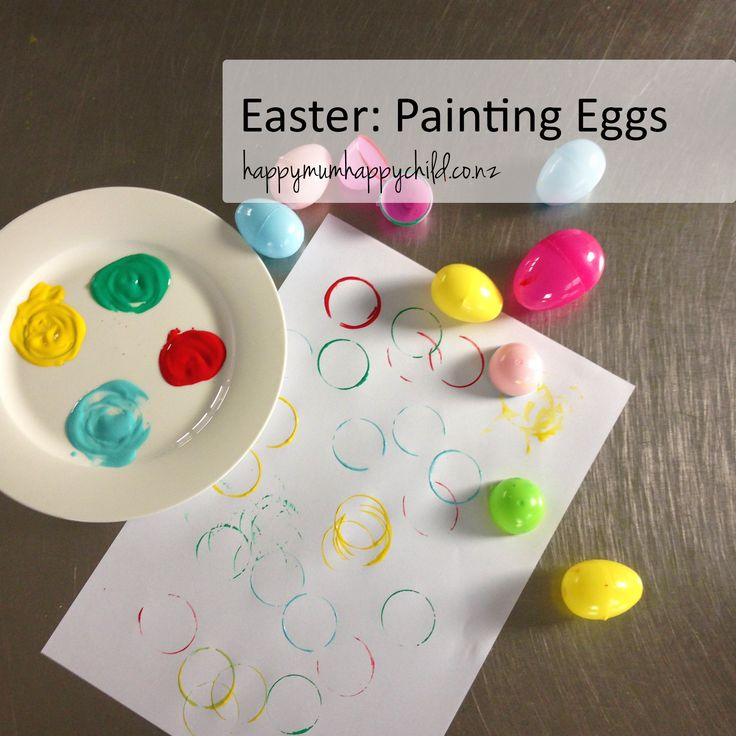 Happy Mum Happy Child Easter Painting Eggs