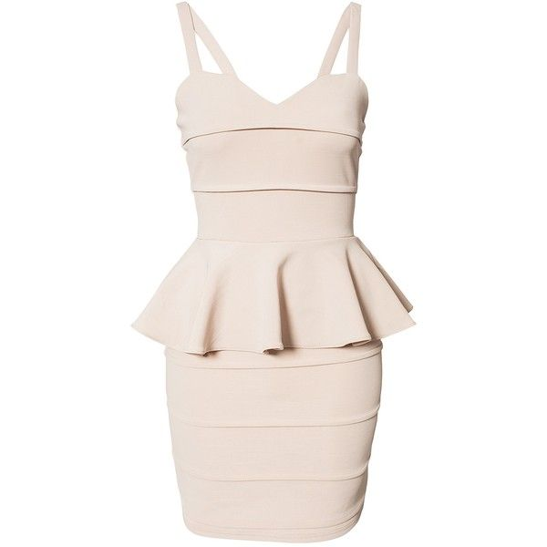 Rare London Peplum Bandage Dress found on Polyvore