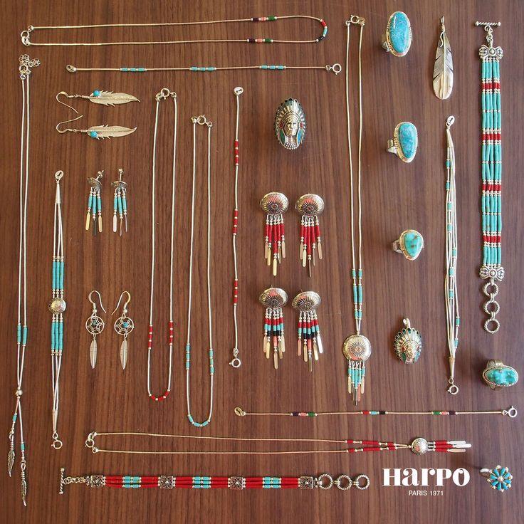 Bijoux American Vintage : Harpo bijoux ? bijouxam?rindiens bijouxturquoise